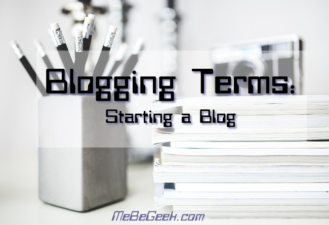 Blogging Terms - Starting a Blog FI