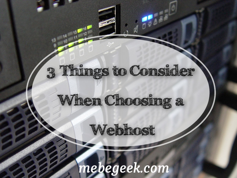 3 Things to consider when choosing a webhost title image