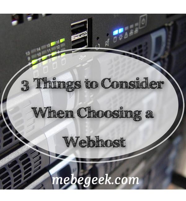 Choosing a webhost - Pinterest image
